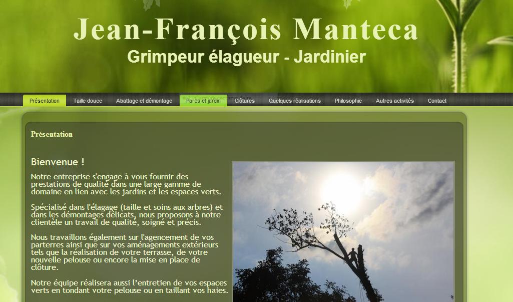 Jean-François Manteca – Grimpeur élagueur – Jardinier